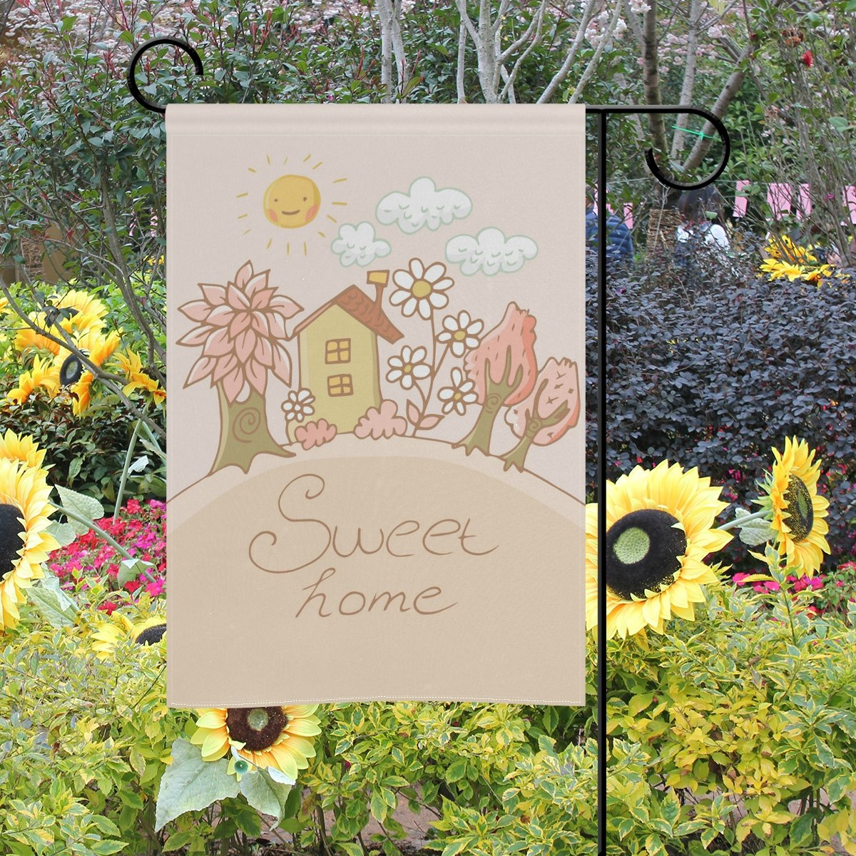 Mi Diario Sweet Home dibujos animados árbol de flores y sol ...
