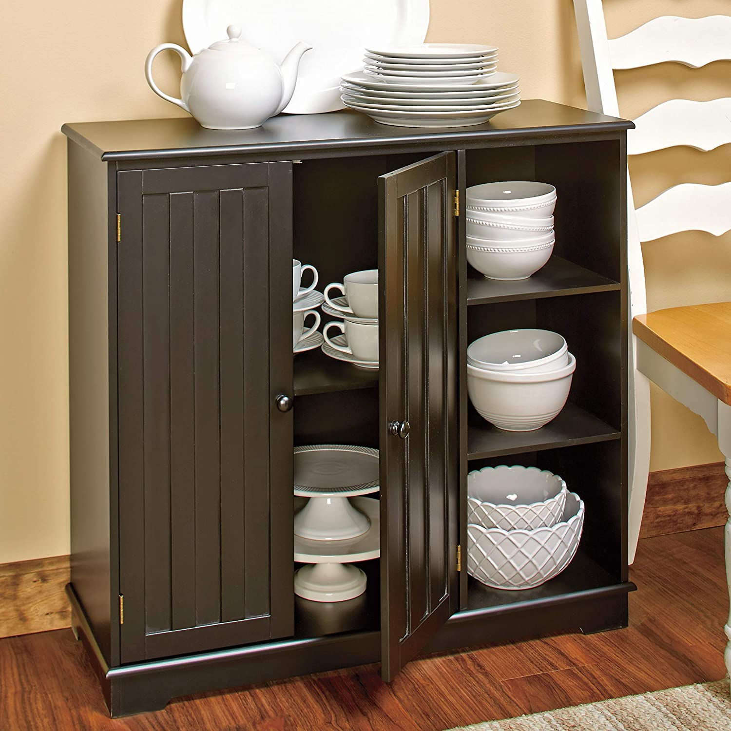 The Lakeside Collection Beadboard Buffet Cabinet - Sideboard wit Save money excellence