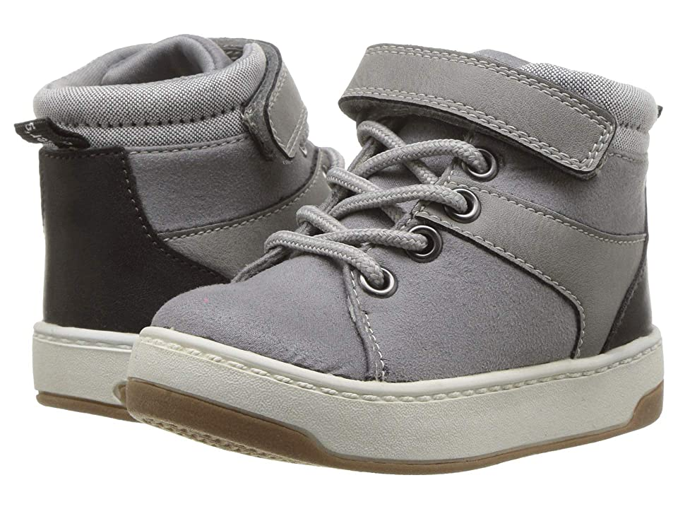 Carters Caruso (Toddler/Little Kid) (Grey Fabric Suede/PU/Chambray) Boy