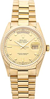 Rolex Day-Date Mechanical (Automatic) Champagne Dial Mens Watch 18038 (Certified Pre-Owned)