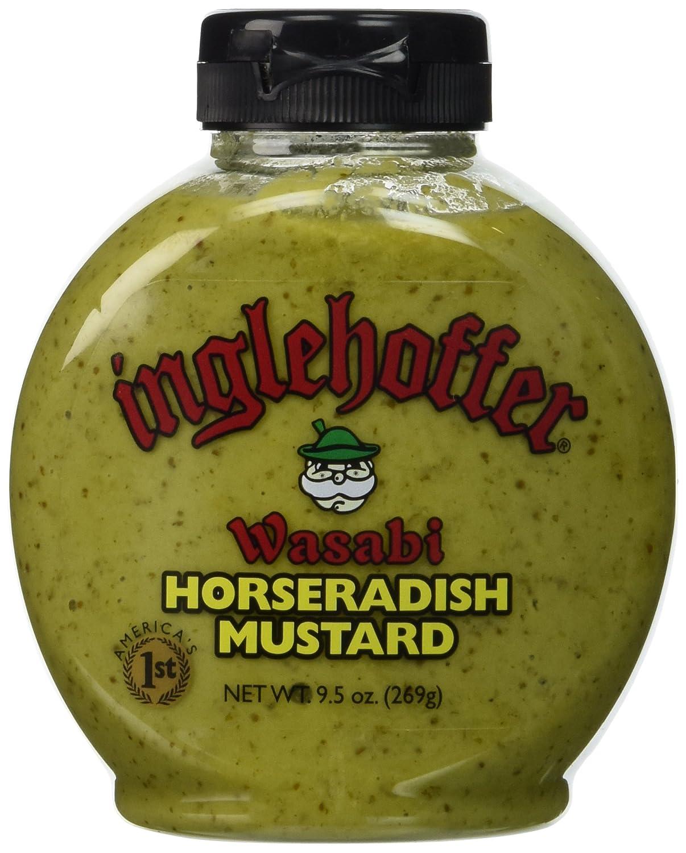 Inglehoffer Wasabi Horseradish Max 72% OFF Mustard 9.5 Squeeze Bottle Ranking TOP8 Ounce