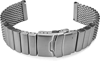 20mm TIMEWHEEL Heavy Stainless Steel Wire Mesh Bracelet Watch Band Strap Solid Removable Links