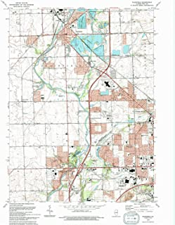 YellowMaps Plainfield IL topo map, 1:24000 Scale, 7.5 X 7.5 Minute, Historical, 1993, Updated 1994, 26.7 x 22 in
