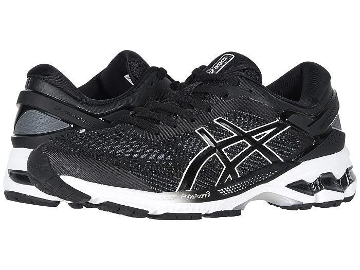 ASICS  GEL-Kayano 26 (Black/White) Womens Running Shoes