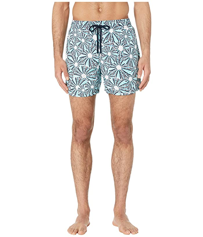 Vilebrequin Moorea Oursinade Swim Trunks (Navy) Men