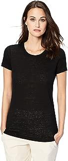 Amazon Brand - Daily Ritual Women's 100% Linen Short-Sleeve Crew Neck T-Shirt