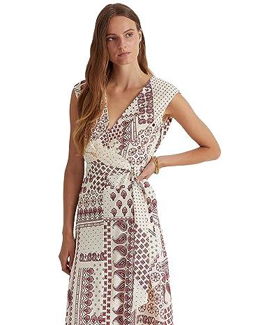 LAUREN Ralph Lauren Midi Short Sleeve Day Dress