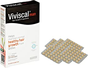Viviscal - Hair Supplements for Men - Pack of 180 Tablets (3 Month Supply)