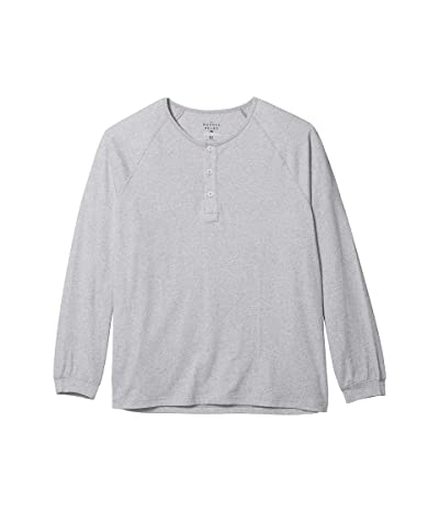 The Normal Brand Active Puremeso Long Sleeve Henley (Grey) Men