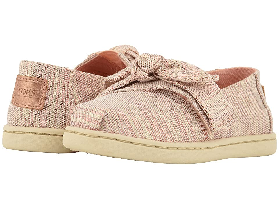TOMS Kids Alpargata (Infant/Toddler/Little Kid) (Rose Cloud Twill Glimmer) Girl