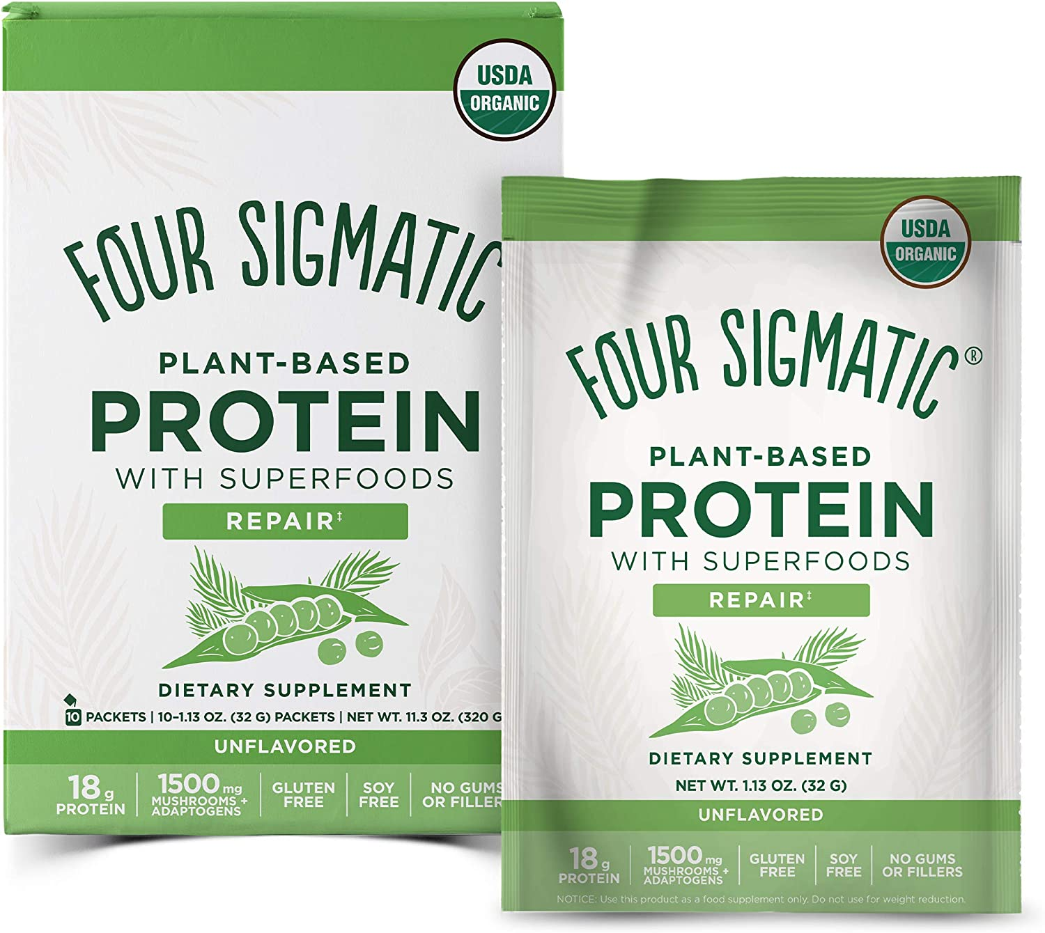 Four Memphis Mall Sigmatic Don't miss the campaign Superfood Protein wit Plant-Based Organic
