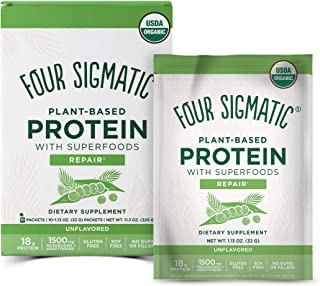 Four Sigmatic Superfood Protein, Organic Plant-Based Protein with Chaga Mushroom & Ashwagandha, Supports Immune Function &...