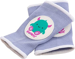 Ah Goo Baby Kneekers Baby Knee Pads for Crawling, Unisex, Little Monster Periwinkle Pattern, for Chunky Legs