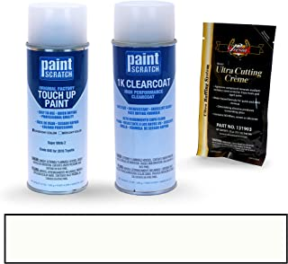 PAINTSCRATCH Super White 2 040 for 2016 Toyota Corolla - Touch Up Paint Spray Can Kit - Original Factory OEM Automotive Paint - Color Match Guaranteed