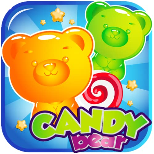 Candy Gummy Bears - Soda Match 3 Puzzle Games Free! Play the Legend of Yummy Candy Blast Mania (Top free match three games in Candy Land Board Game For Amazon Fire)