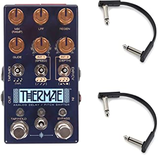 Chase Bliss Audio Thermae Analog Delay Pitch Shifter w/RockBoard Flat Patch Cables Bundle