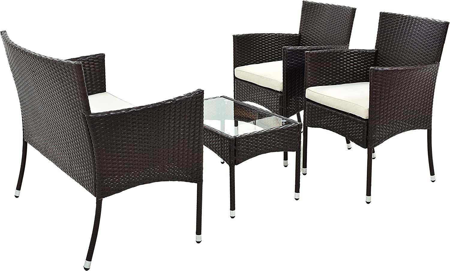 LASBAK 4 Pieces Outdoor Patio Rattan Set Sectional Super intense SALE Now free shipping Sof Furniture