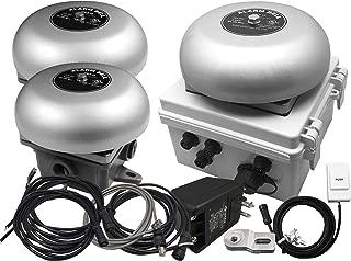 Linortek Netbell-K-E2M Network Enabled Loud Automatic School Factory Warehouse Break Bell System Programmable Bell Timer Web-Based Bell Controller w/Two External Bells (3 Bells System)