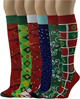 08edfacfd Amazon.com  Holiday   Seasonal - Socks   Hosiery   Women  Clothing ...