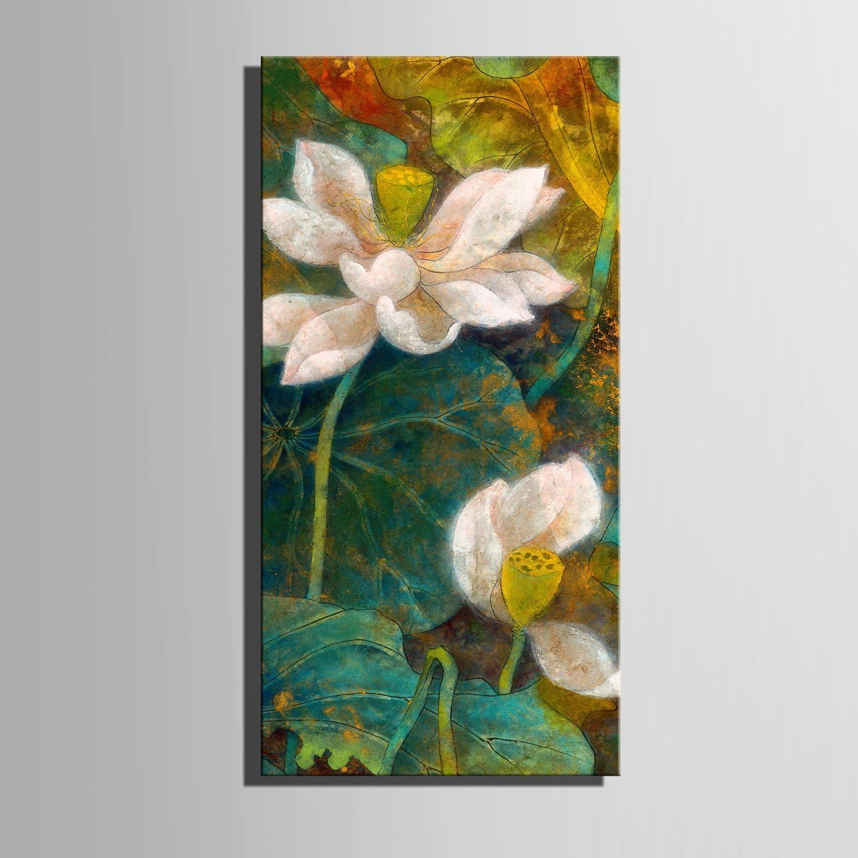 RUNDESHEBEI Y&M Y&M Y&M Frameless Malerei, gestreckte Leinwand Kunst spektakuläre Lotus Dekoration Malerei, 30  60  1 B071ZZ64D1  | Zuverlässige Qualität  35ff8d