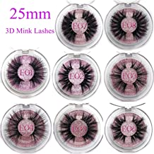Little cute shop 25mm False Eyelashes Wholesale Thick Strip 25mm 3D Mink Lashes Custom Packaging Label Makeup Dramatic Long Mink Lashes,C,0.15mm,E11,Other
