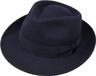 52990e1473f Borges   Scott B S Premium Doyle - Teardrop Fedora Hat - 100% Wool Felt -