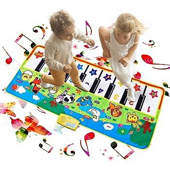 Tanzmatte Kinder Berührungsempfindliche 2in1-Musikmatte Musik Matte