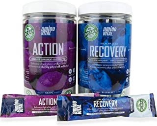 amino VITAL Action and Rapid Recovery Bundle- Vegan BCAAs Amino Acid Mix | Hydration and Endurance | Repair and Recovery