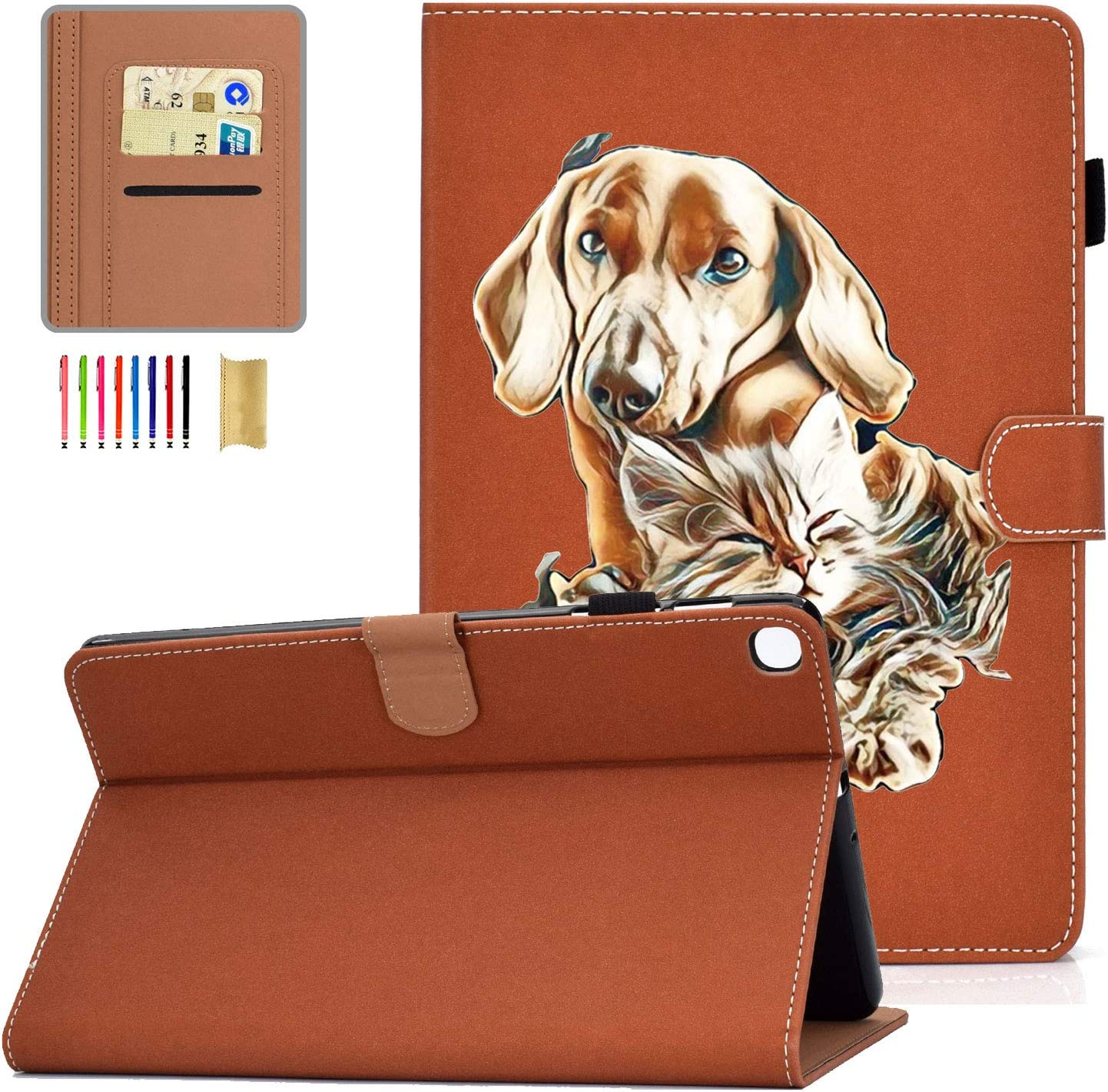 APOLL Cover for Complete Free In stock Shipping Samsung Galaxy Tab PU Shockproof A 10.1 Leather