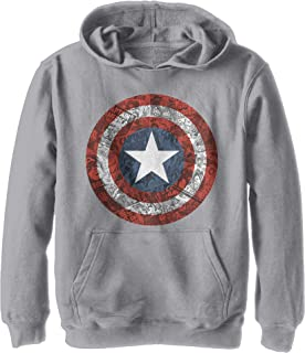 Size:5-6Y 5-6 Years Sports Grey SpGry Grey Marvel Boys Avengers Captain America Distressed Shield Sweatshirt