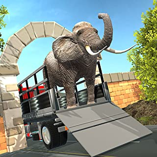 Wild Animal Kingdom Zoo Transport Truck Simulator : Angry Elephant Transporter Trailer Truck Tycoon Deluxe 3D