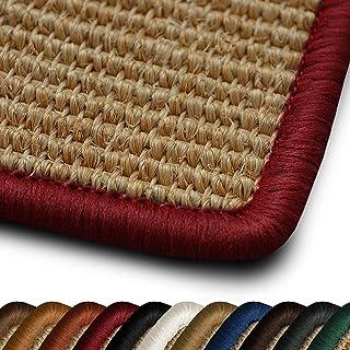 casa pura Alfombra Pasillo Natural - Alfombras Sisal   Salvador   100% Natural   Alfombras Fibras Naturales   Juego de Alfombrillas para Escaleras Disponibles   10 Colores (Rojo - 200x300 cm)