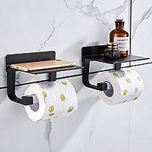Hoomtaook toiletrolhouder zonder boren toiletrolhouder zelfklevende toiletrolhouder zonder boorruimte aluminium, matte afw...