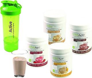 Slim Active Formula 1 Healthy Meal 4 Items Together Strawberry-Chocolate-Banana-Vanilla (Shaker Gift)