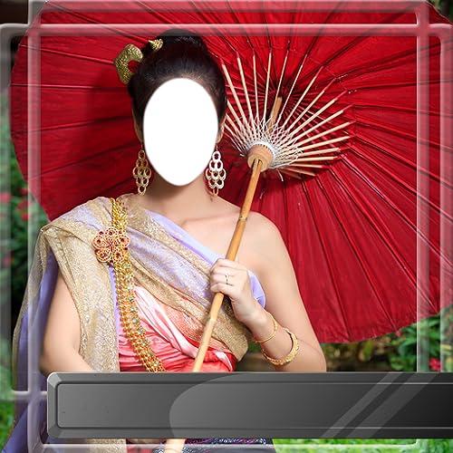 Thai-Kleid-Foto-Montage
