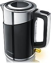 Arendo – Roestvrijstalen waterkoker 3000 watt – cool touch dubbelwandige uitvoering - 3000 watt stroomverbruikende koker –...