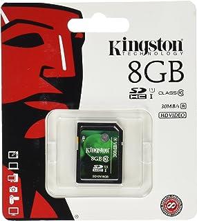 Kingston Digital 8 GB SDHC/SDXC Class 10 UHS-1 Flash Memory Card 30MB/s (SD10V/8GB)