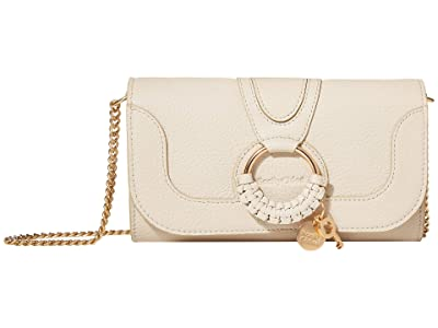 See by Chloe Hana Long Wallet with Flap (Cement Beige) Handbags