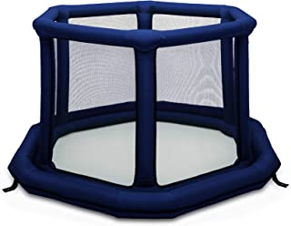 EverEarth Portable Playard for Baby, Infants, and Toddlers | Pop-Up and Inflatable Play Area for Crawling, Walking, Toys | Indoor and Outdoor Fun | Water-Resistant Mattress