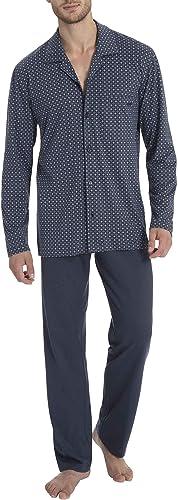 CALIDA Pyjama long Larry pour homme MARINE 463 - L, MARINE 463