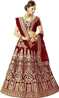 Aayan export Women's Faux Silk Semi-stitched Lehenga Choli