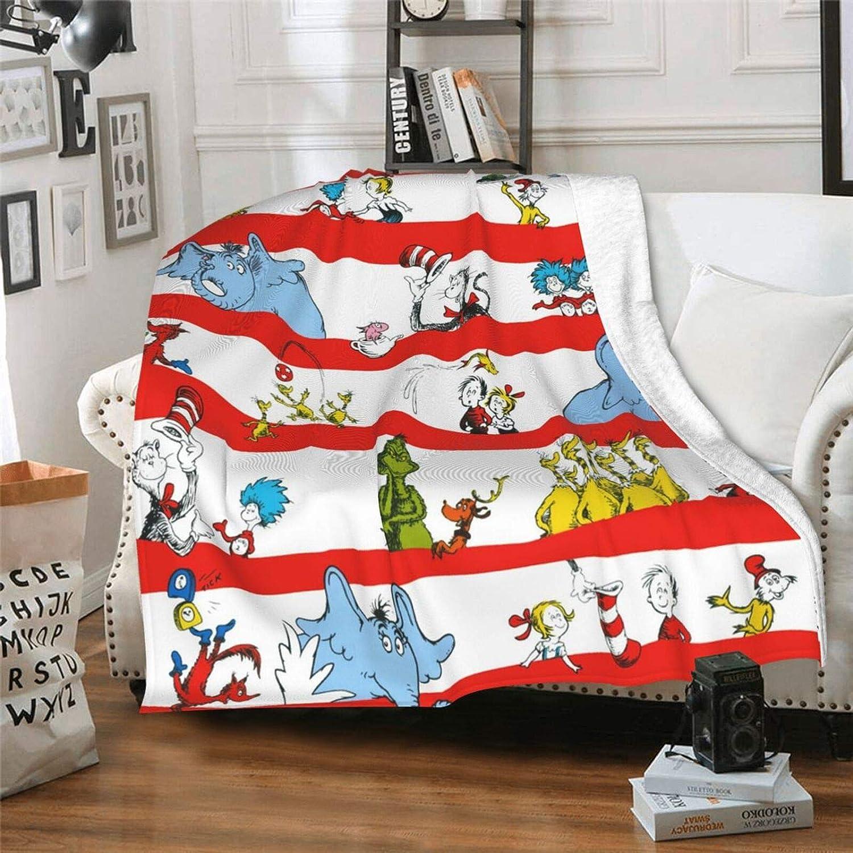 Lorieciosen Lightweight Men Dr. Seuss 激安挑戦中 Flannel Soft 春の新作続々 Blanket B Fun
