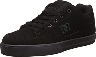 DC Men's Pure Skate Shoe,  Black/Pirate Black, 12 D US