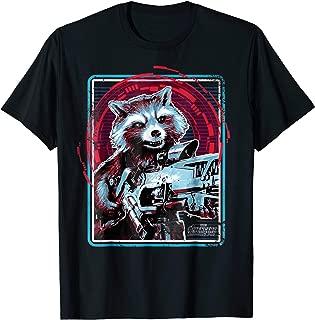 Infinity War Rocket Raccoon Digital Abstract T-Shirt