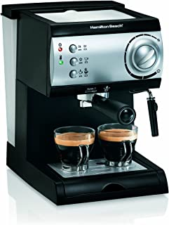 Hamilton Beach Espresso Machine with Steamer – Cappuccino, Mocha, & Latte Maker (40715)