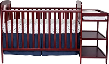 Suite Bebe Ramsey 3 in 1 Convertible Baby Crib and Changer in a Cognac Finish - Quick Ship