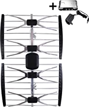 AntennaMastsRus - The Original 150 Mile 4 Element HD TV - HDTV Outdoor Multi Directional Antenna VHF - UHF + 13dB Powered Amplifier Booster