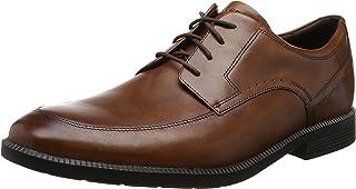 ROCKPORT Men's Dressports Formal Modern Apron Toe Brown Uniform Dress Shoes, New Brown