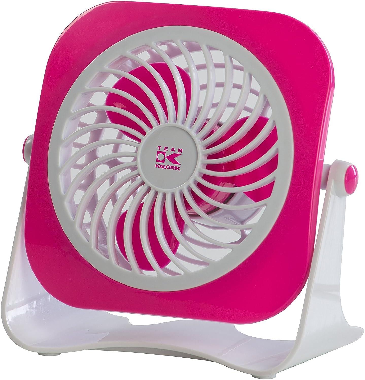 TKG Portable Silent USB 1 year warranty Desk Fan for White Pink All PC of 1 year warranty Kind