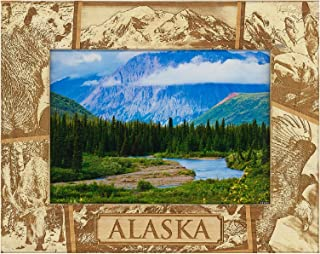 Alaska Laser Engraved Wood Picture Frame (5 x 7)